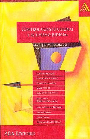 CONTROL CONSTITUCIONAL Y ACTIVISMO JUDICIAL