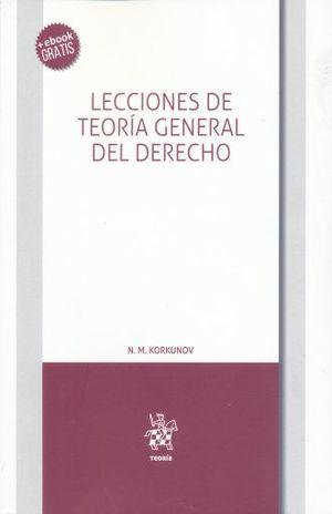 LECCIONES DE TEORIA GENERAL DEL DERECHO (+ EBOOK)