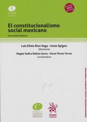 El Constitucionalismo Social Mexicano