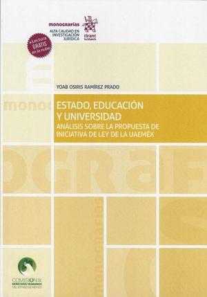 Estado, educación y universidad. Análisis sobre la propuesta de iniciativa de ley de la UAEMEX