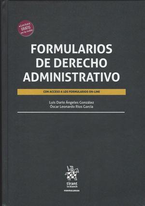 Formularios de Derecho Administrativo / pd.