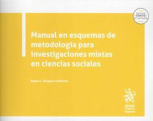 Manual en esquemas de metodología para investigaciones mixtas en ciencias sociales