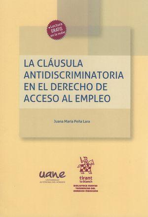 La cláusula antidiscriminatoria en el derecho de acceso al empleo
