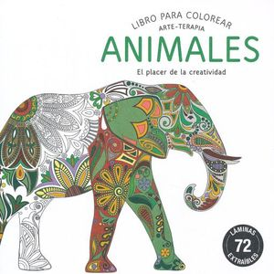 LIBRO PARA COLOREAR ANIMALES ARTE TERAPIA