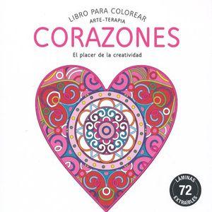 LIBROS PARA COLOREAR CORAZONES ARTE TERAPIA
