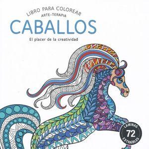 LIBRO PARA COLOREAR CABALLOS ARTE TERAPIA