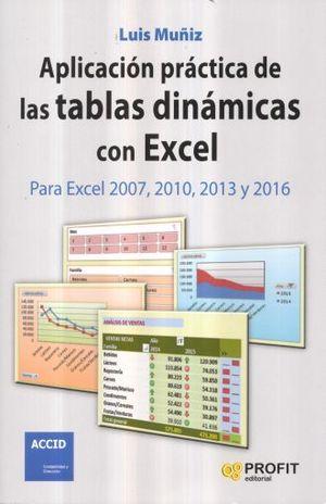 APLICACION PRACTICA DE LAS TABLAS DINAMICAS CON EXCEL. PARA EXCEL 2007 2010 2013 Y 2016