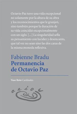 Permanencia de Octavio Paz / pd.