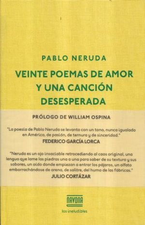 VEINTE POEMAS DE AMOR Y UNA CANCION DESESPERADA / PD.