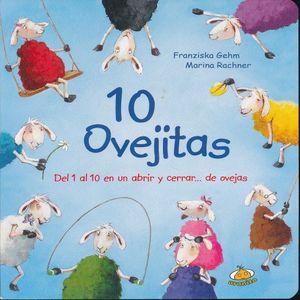 10 OVEJITAS. DEL 1 AL 10 EN UN ABRIR Y CERRAR DE OVEJAS / PD.