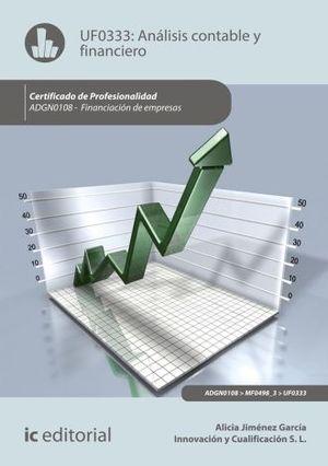 UF0333 ANALISIS CONTABLE Y FINANCIERO. ADGN0108 - FINANCIACION DE EMPRESAS