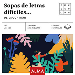 SOPAS DE LETRAS DIFICILES DE ENCONTRAR