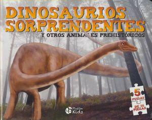 DINOSAURIOS SORPRENDENTES Y OTROS ANIMALES PREHISTORICOS / PD. (5 PUZLES DE 35 PIEZAS)