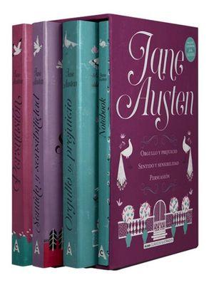 Mejores títulos Jane Austen + Notebook / 4 vols. / pd. (Estuche)