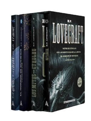 Mejores títulos H. P. Lovecraft + Notebook / 4 vols. / pd. (Estuche)