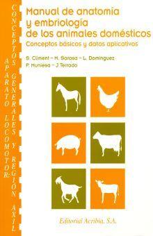 MANUAL DE ANATOMIA Y EMBRIOLOGIA DE LOS ANIMALES DOMESTICOS. CONCEPTOS BASICOS Y DATOS APLICATIVOS