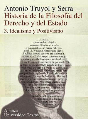 HISTORIA DE LA FILOSOFIA DEL DERECHO Y DEL ESTADO 3. IDEALISMO Y POSITIVISMO