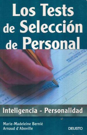 TEST DE SELECCION DE PERSONAL, LOS. INTELIGENCIA - PERSONALIDAD