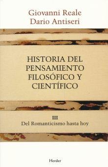 HISTORIA DEL PENSAMIENTO FILOSOFICO Y CIENTIFICO / VOL. 3