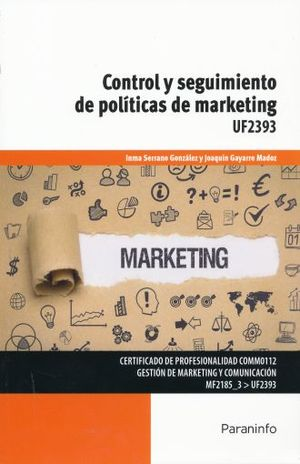 CONTROL Y SEGUIMIENTO DE POLITICAS DE MARKETING UF2393