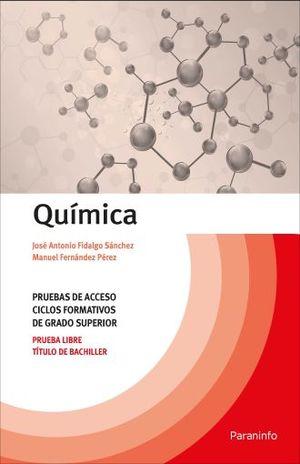 QUIMICA. PRUEBAS DE ACCESO A CICLOS FORMATIVOS DE GRADO SUPERIOR