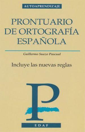 PRONTUARIO DE ORTOGRAFIA ESPAÑOLA