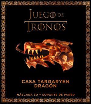 JUEGO DE TRONOS CASA TARGARYEN DRAGON. MASCARA 3D Y SOPORTE DE PARED