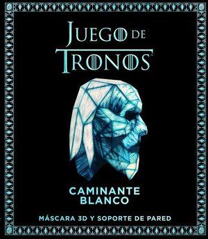 JUEGO DE TRONOS CAMINANTE BLANCO. MASCARA 3D Y SOPORTE DE PARED