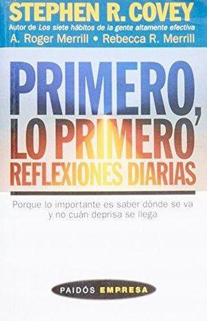 PRIMERO LO PRIMERO REFLEXIONES DIARIAS