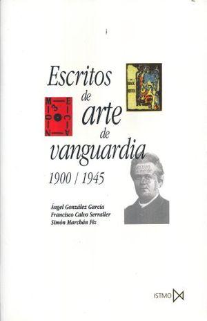 ESCRITOS DE ARTE DE VANGUARDIA 1900 1945