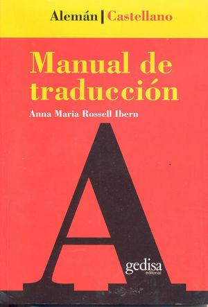 MANUAL DE TRADUCCION ALEMAN CASTELLANO