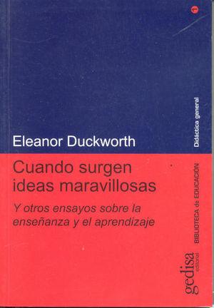 CUANDO SURGEN IDEAS MARAVILLOSAS