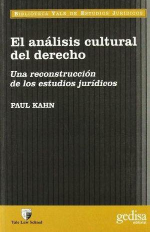 ANALISIS CULTURAL DEL DERECHO, EL