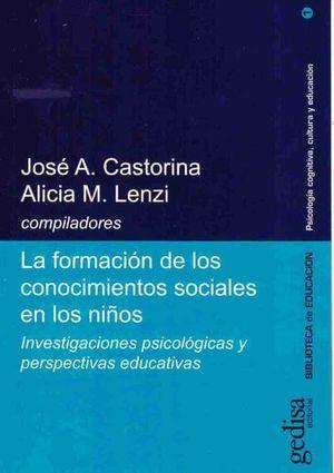 FORMACION DE LOS CONOCIMIENTOS SOCIALES EN LOS NIÑOS, LA