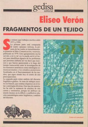 FRAGMENTOS DE UN TEJIDO