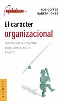 CARACTER ORGANIZACIONAL, EL