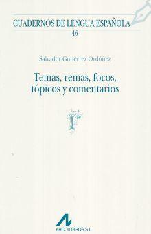 TEMAS REMAS FOCOS TOPICOS Y COMENTARIOS / 2 ED.