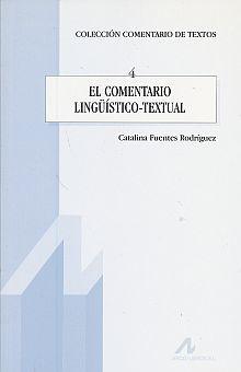 COMENTARIO LINGUISTICO TEXTUAL, EL