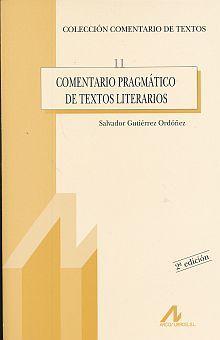 COMENTARIO PRAGMATICO DE TEXTOS LITERARIOS