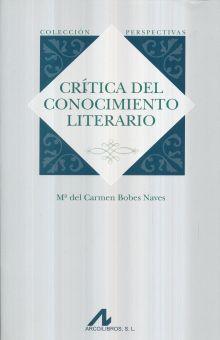 CRITICA DEL CONOCIMIENTO LITERARIO