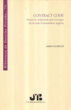 CONTRACT CODE. PROYECTO REDACTADO POR ENCARGO DE LA LAW COMMISION INGLESA