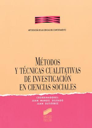 METODOS Y TECNICAS CUALITATIVAS DE INVESTIGACION EN CIENCIAS SOCIALES