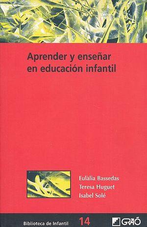 APRENDER Y ENSEÑAR EN EDUCACION INFANTIL