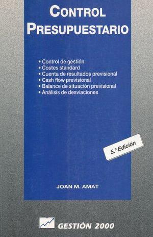 CONTROL PRESUPUESTARIO / 5 ED.