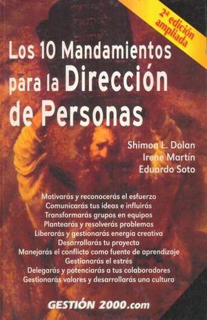 10 MANDAMIENTOS PARA LA DIRECCION DE PERSONAS, LOS