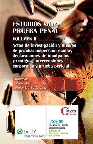 ESTUDIOS SOBRE PRUEBA PENAL / VOLUMEN II / PD.