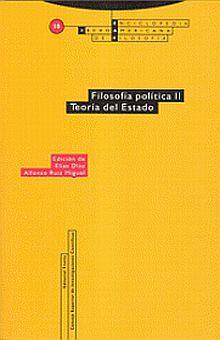 FILOSOFIA POLITICA II / TEORIA DEL ESTADO