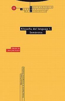 FILOSOFIA DEL LENGUAJE I. SEMANTICA