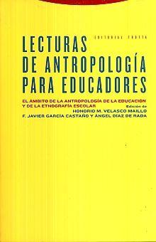 LECTURAS DE ANTROPOLOGIA PARA EDUCADORES / 2 ED.