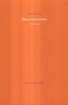 DESAPARICIONES. POEMAS
